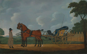 A Gentleman with his Pair of Bays Harnessed to a Curricle, John Cordrey